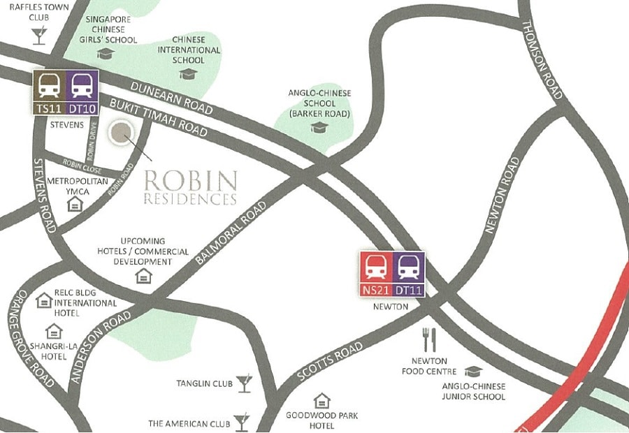 Robin Residences Location Map