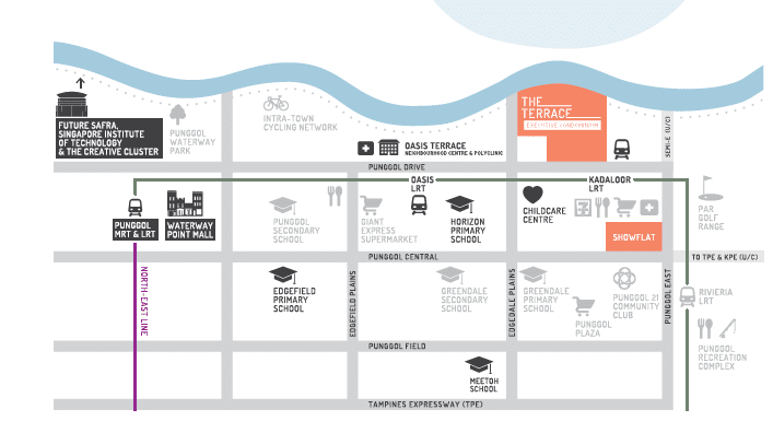 The Terrace EC Location Map