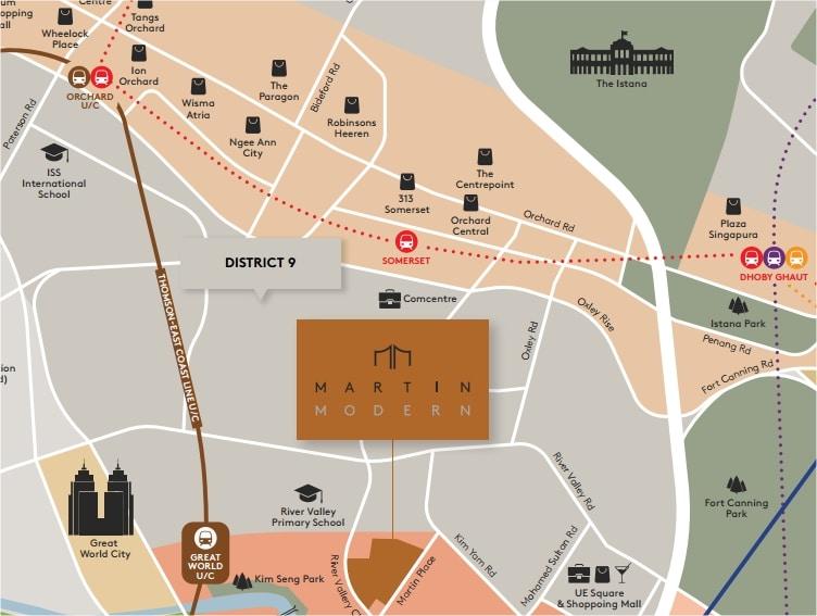 Martin Modern Map