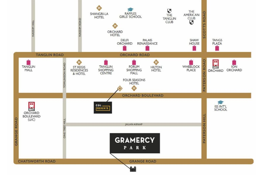 Gramercy Park Map