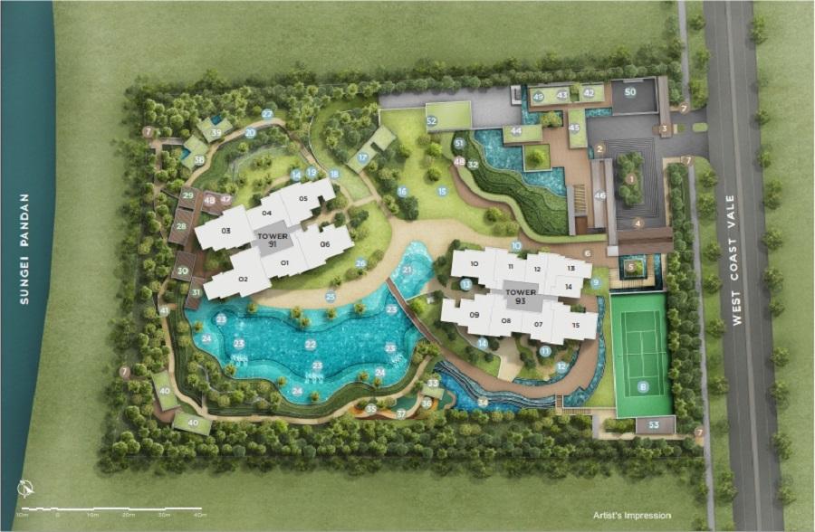 Twin Vew 庭.维苑 Site Plan 1