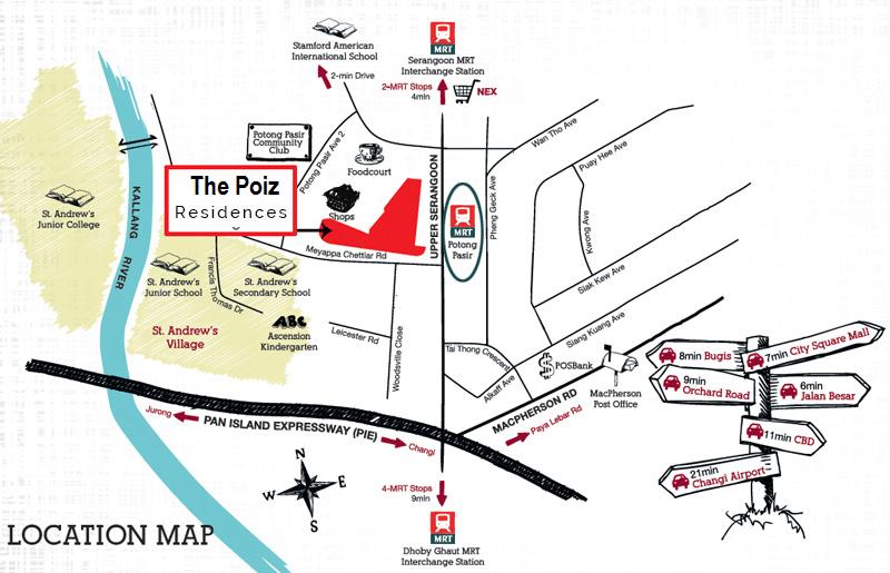 The Poiz Residences Map