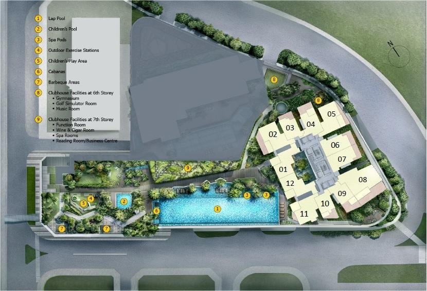 Cairnhill Nine Site Plan