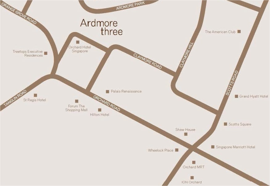 Ardmore 3 Location Map