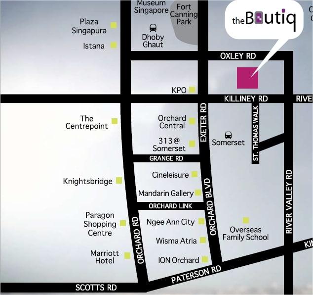 The Boutiq Map