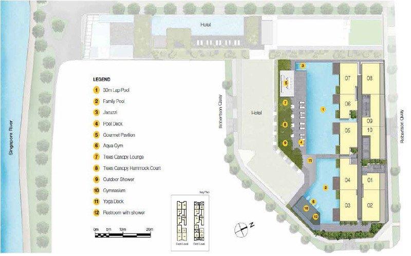 Up@Robertson Quay Site Plan