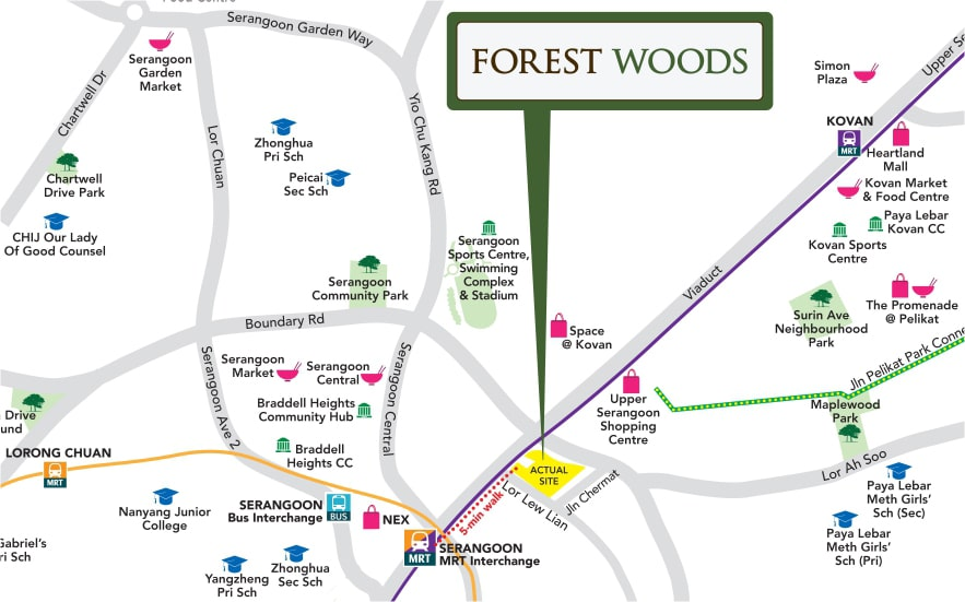 Forest Woods Location Map