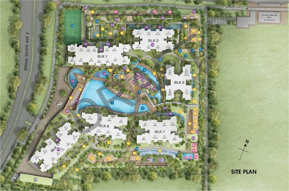 Grandeur Park Residences 豪佳苑 Site Plan