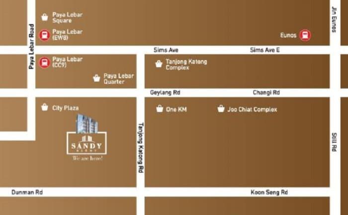 Sandy Eight Map