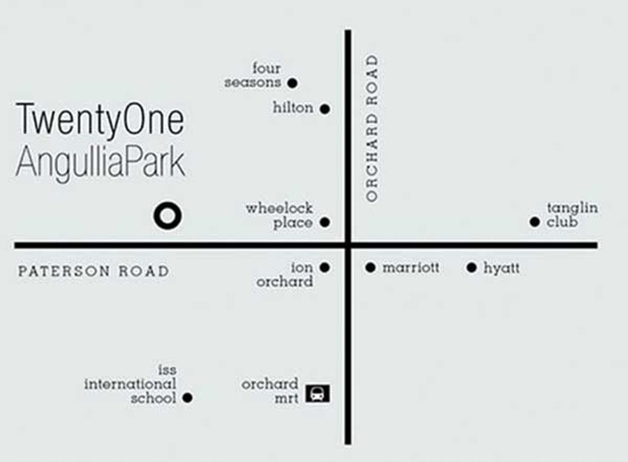 TwentyOne Angullia Park Map