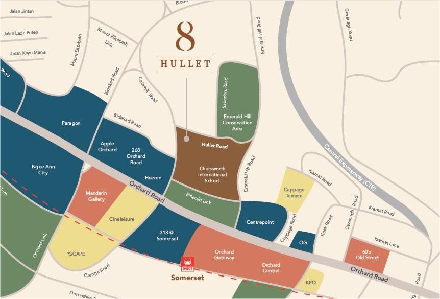8 Hullet Map