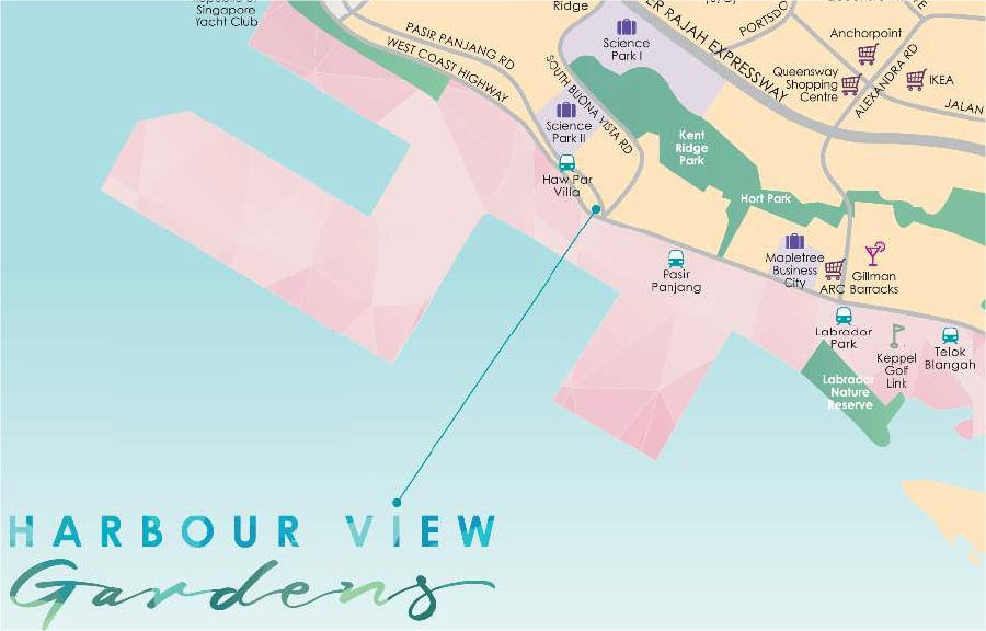 Harbour View Gardens Location Map