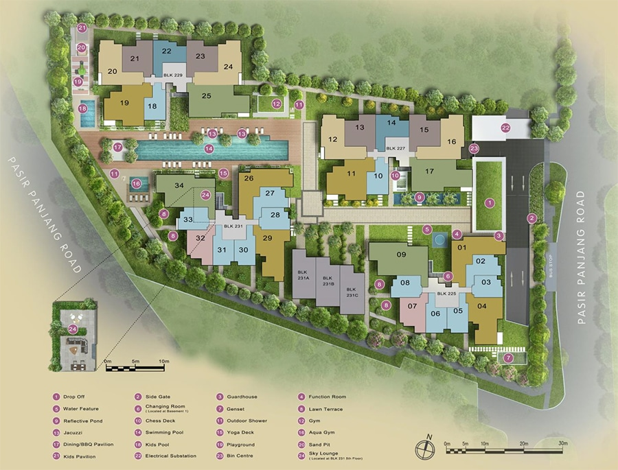 The Verandah Residences Site Plan