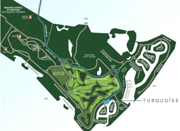 Turqoise 翠珀湾 Location Map