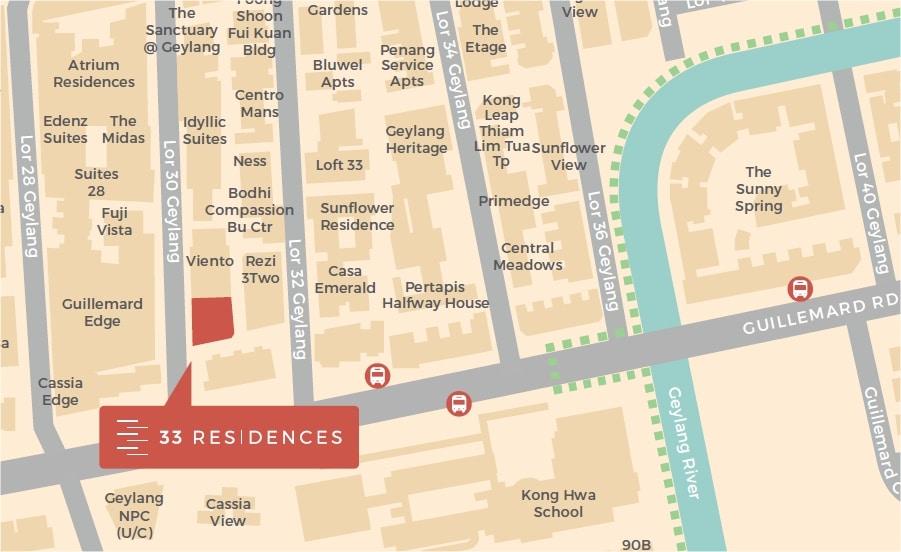 33 Residences Location