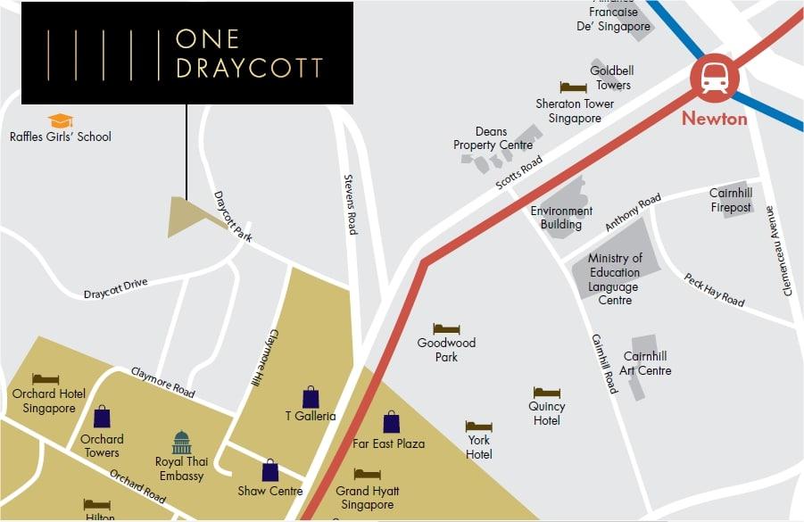 One Draycott Map