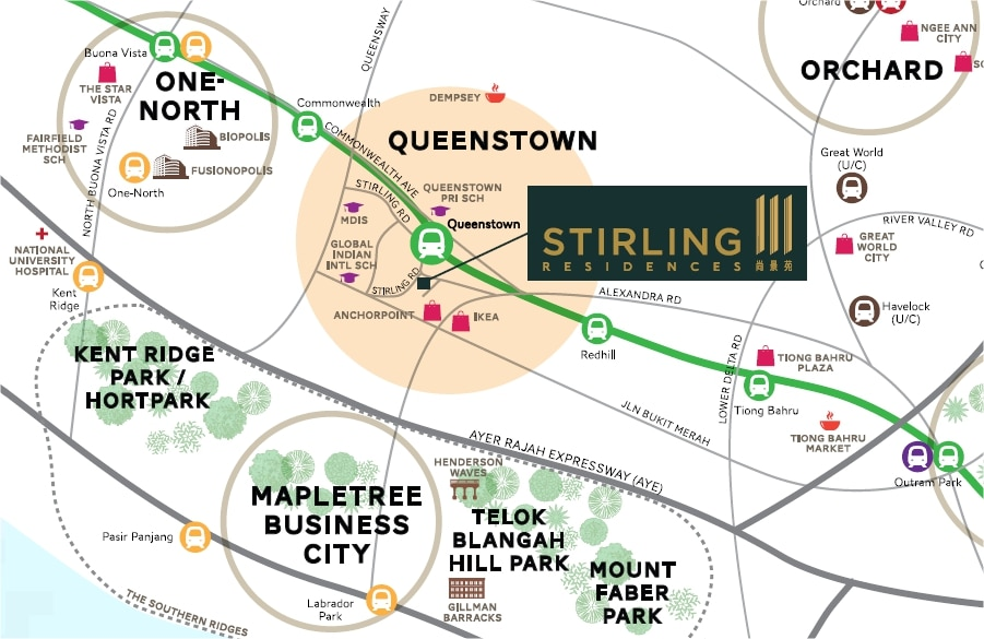 Stirling Residences Location Map