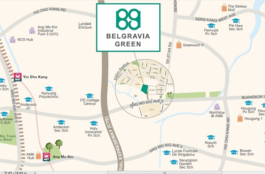 Belgravia Green Location Map