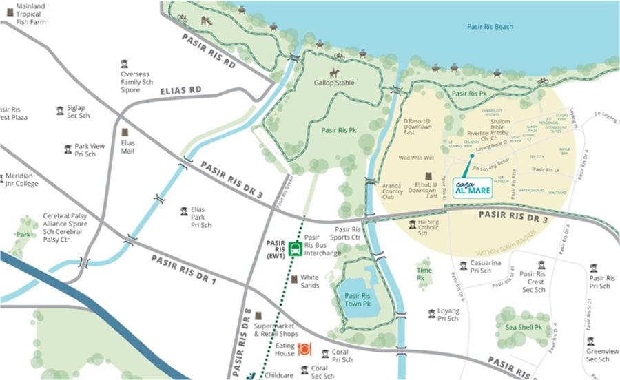 Casa Al Mare Location