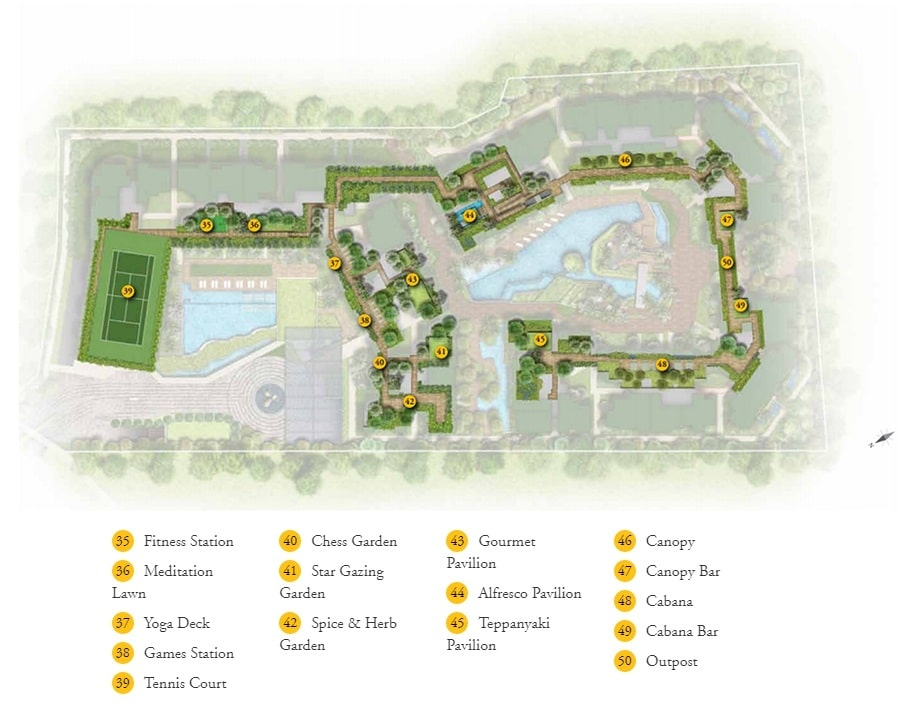 DainTree Residence Site Plan 2