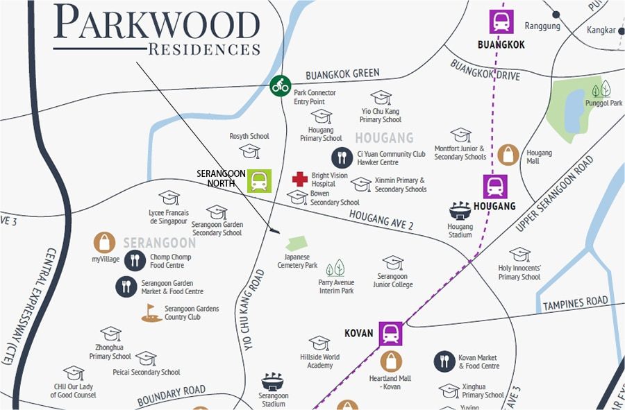 Parkwood Residences Location Map 1