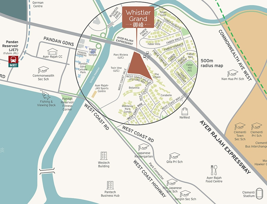 Whistler Grand Location Map