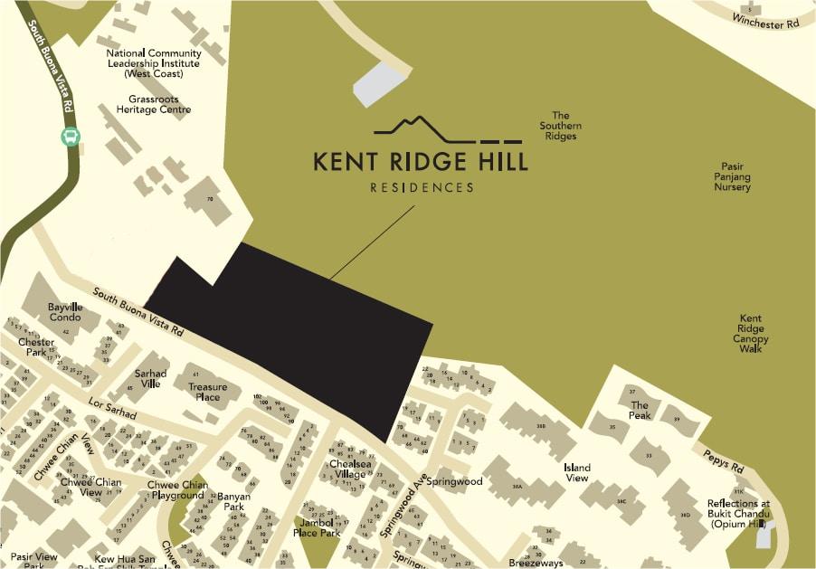 Kent Ridge Hill Residences Location Map