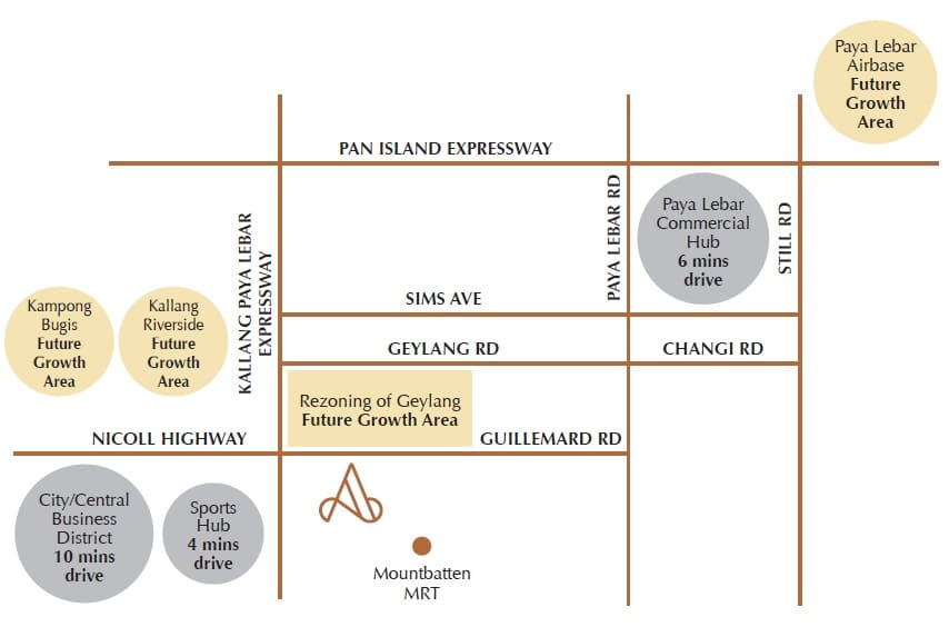 Arena Residences Location Map