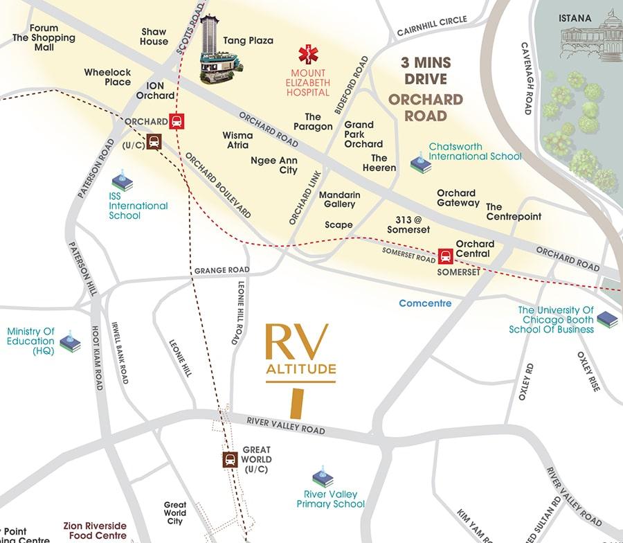 RV Altitude Location Map