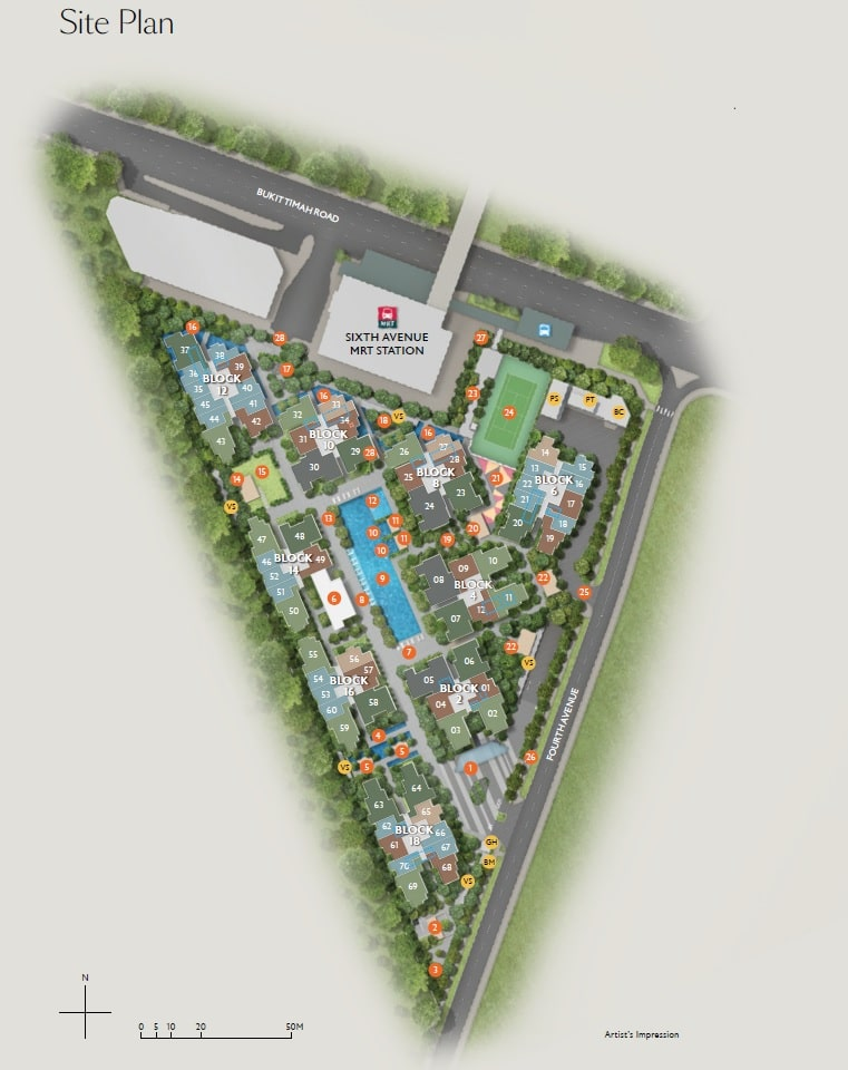 Fourth Avenue Residences Site Plan 1