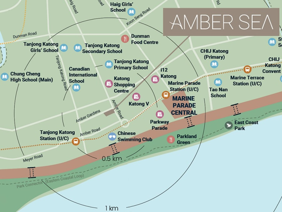 Amber Sea Location Map