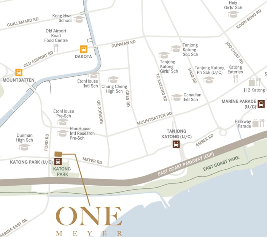 One Meyer Location Map