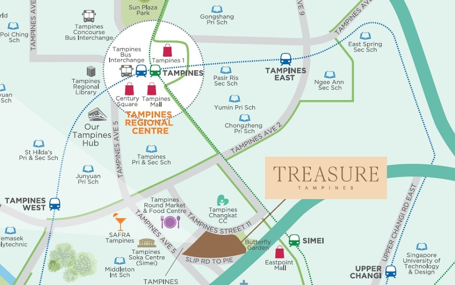 Treasure at Tampines Map