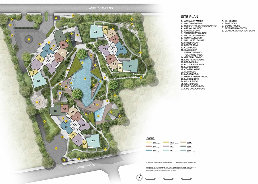 Amber Park - Site Plan (Level 1)