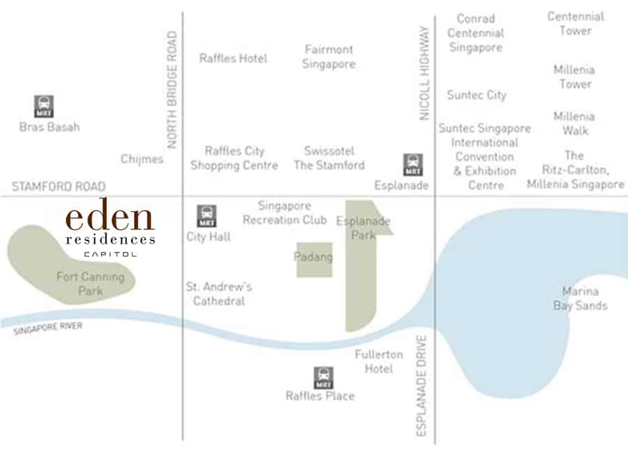 Eden Residences Capitol 首都御府 Location