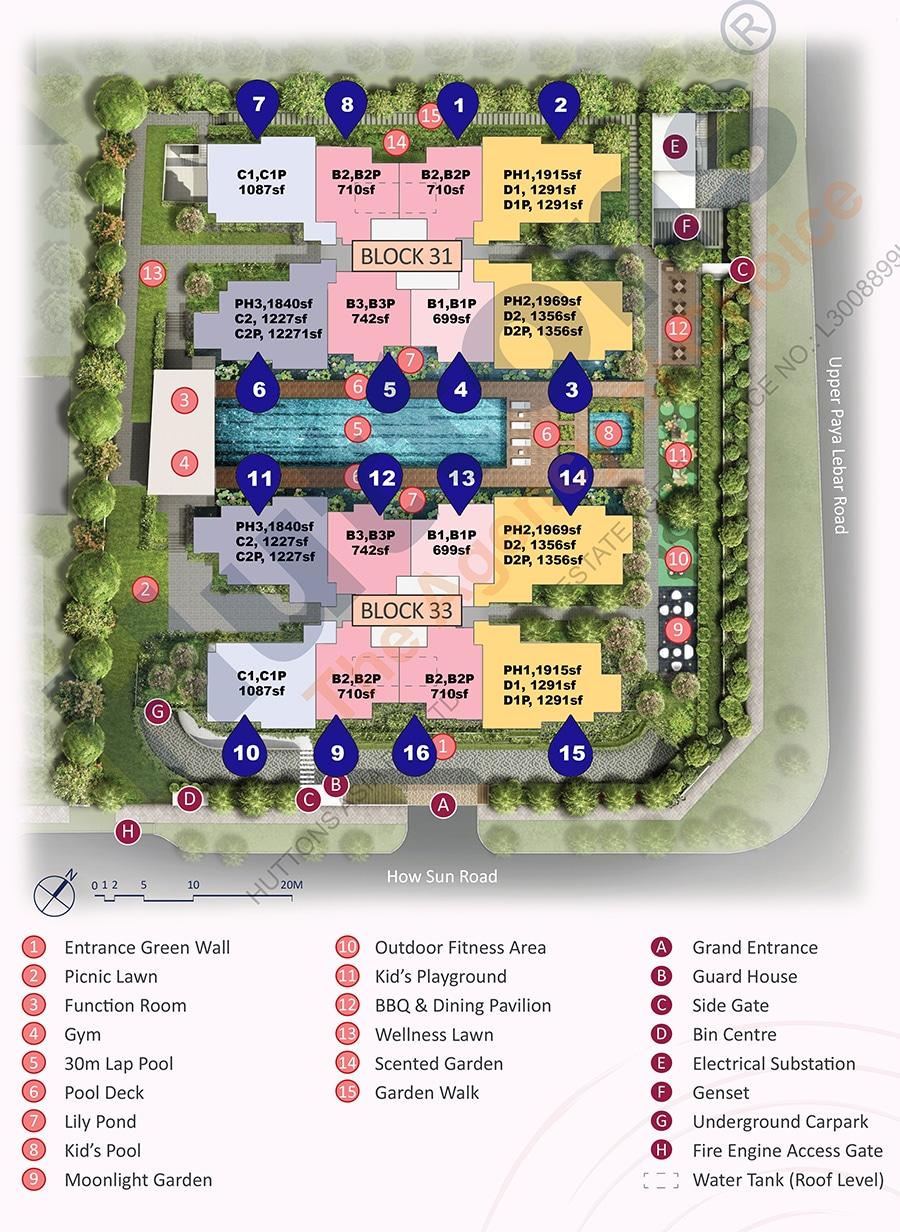 The Lilium siteplan