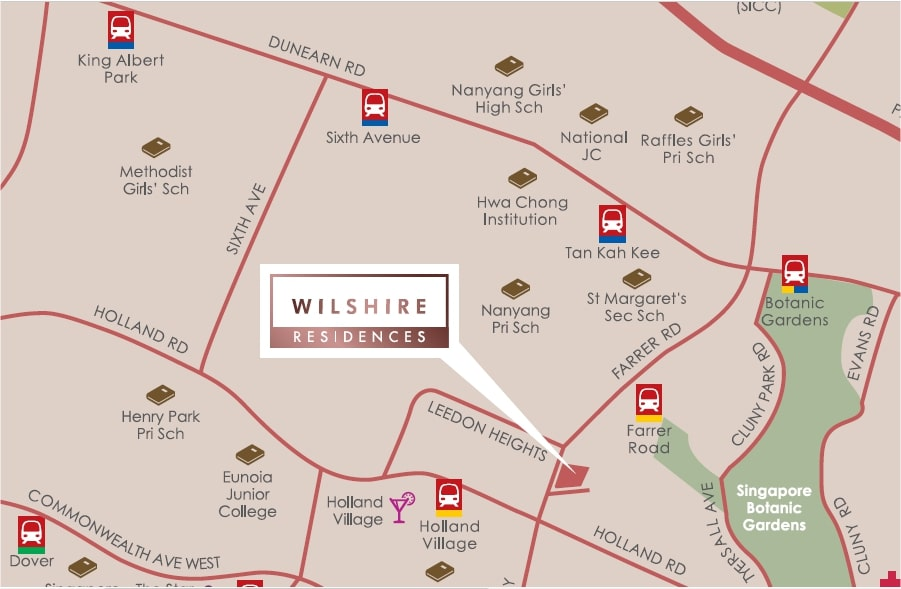 Wilshire Residences Location Map