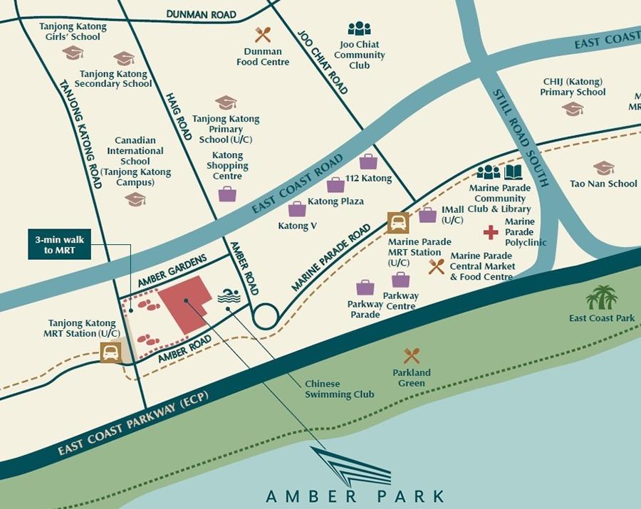 Amber Park Map