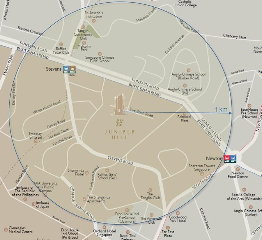 Juniper Hill Location Map
