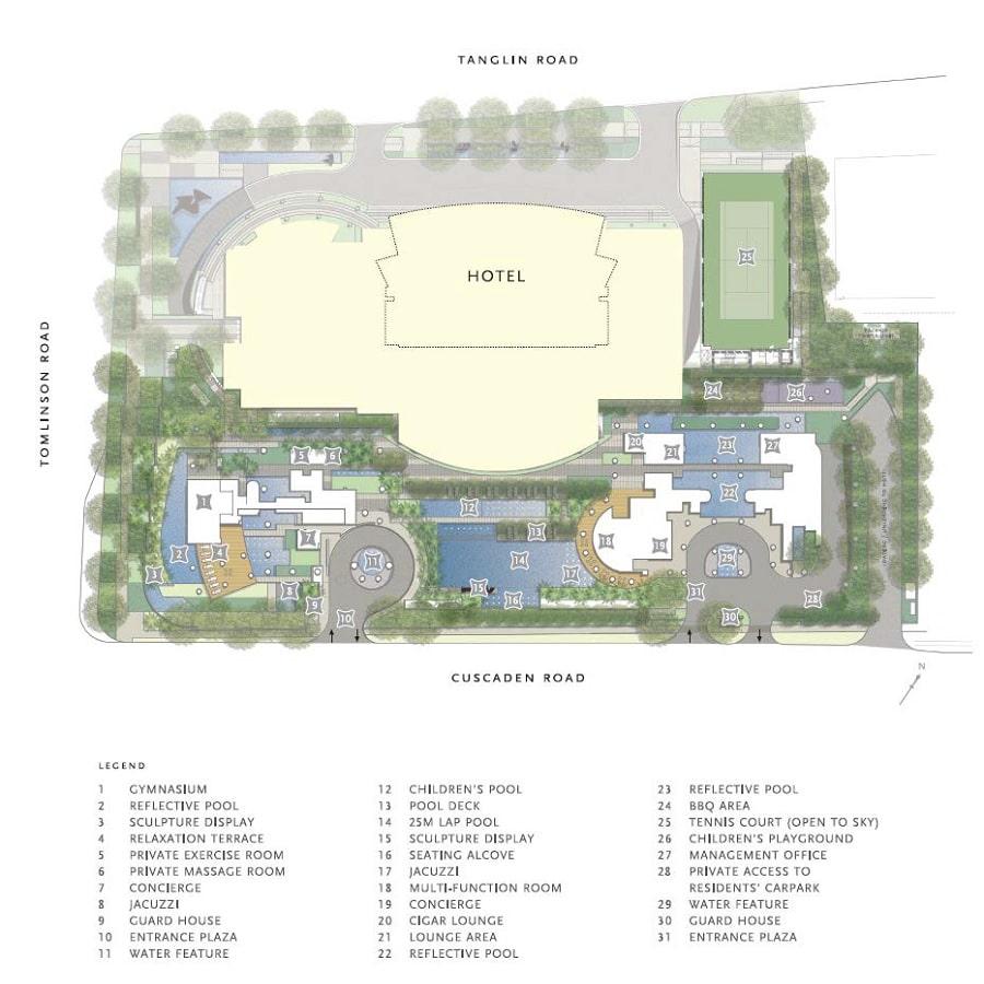 St Regis Residences Site Plan