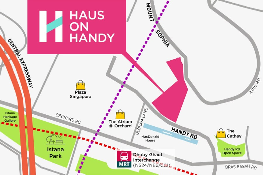 Haus on handy location Map