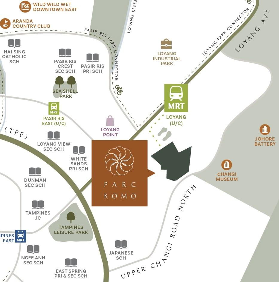 parc Komo map