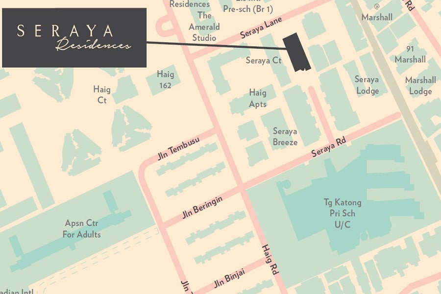 Seraya Residences Location Map