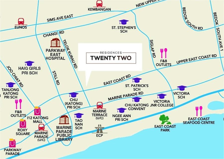 Residence Twenty Two Map