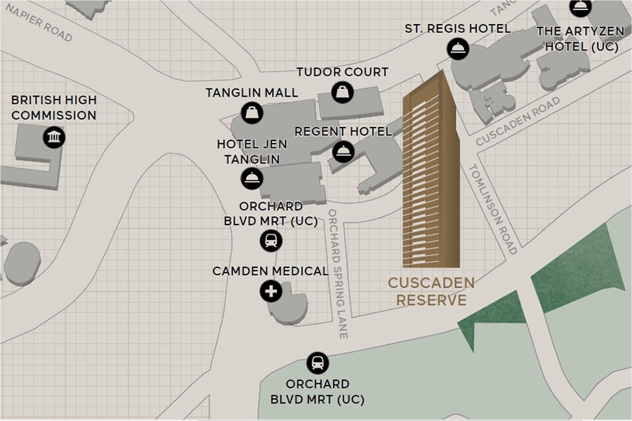 Cuscaden Reserve Location Map