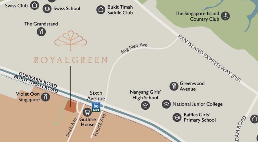 RoyalGreen Location Map