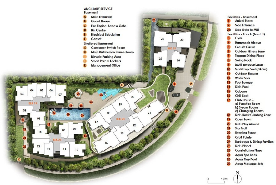 The Antares Site Plan 1