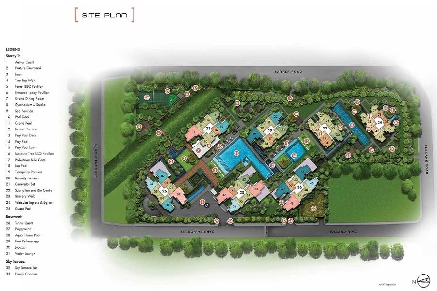 Leedon Green Site Plan