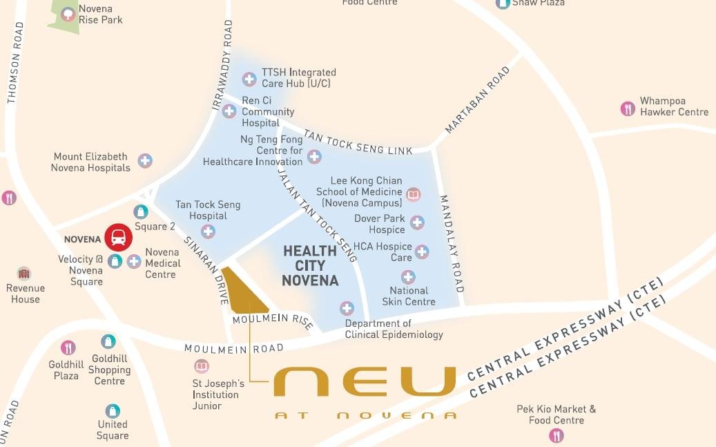 Neu at Novena Location Map