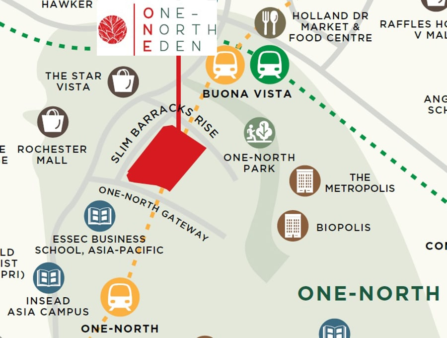One North Eden Location Map